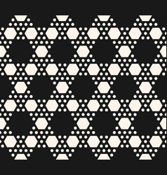 Geometric seamless pattern with hexagonal grid vector