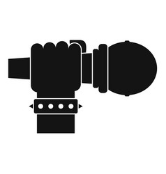 hand microphone icon simple style vector image