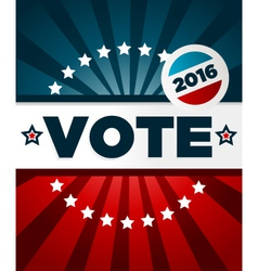 Patriotic 2016 voting poster vector image