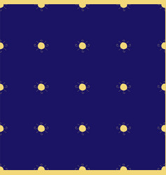 seamless pattern with suns on dark blue background vector image