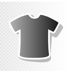 t-shirt sign new year blackish icon on vector image vector image
