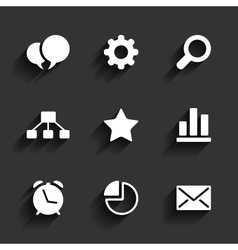 Web and Mobile icons vector image vector image