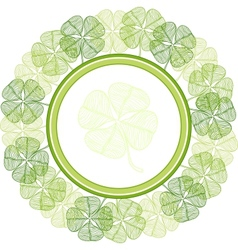 Background with abstract clover leaves vector image vector image
