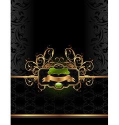 golden luxury background vector image vector image