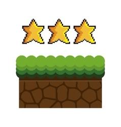 ground mud block pixel vector image