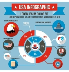 USA infographic flat style vector image vector image
