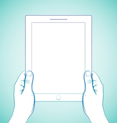 2 Hand Holding Tablet vector image