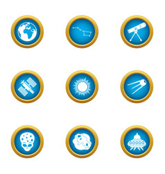 Advent icons set flat style vector