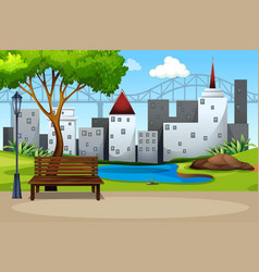 an urban nature park vector image
