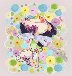 Angel love vector