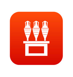 antique jugs icon digital red vector image