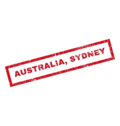 Australia sydney rubber stamp vector