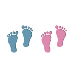 Baby footprint isolated on white background vector