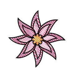 beautiful flower ornament vector image