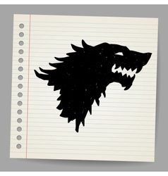 Black wolf for your design vector image