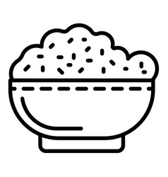 Bowl rice icon outline style vector