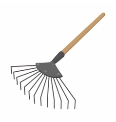Brush cartoon icon vector image