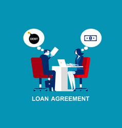 Business person make a loan agreement concept vector