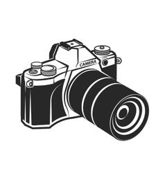 Camera retro style foto vector image