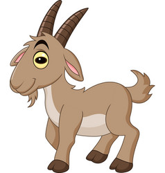 cartoon goat isolated on white background vector image