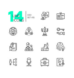 ceo - set line design style icons vector image