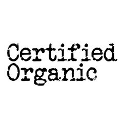 Certified organic stamp on white background vector