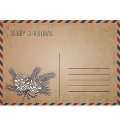 Christmas card drawing vector image
