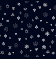 christmas seamless pattern with big and small vector image