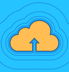 cloud technology sign sand color icon vector image