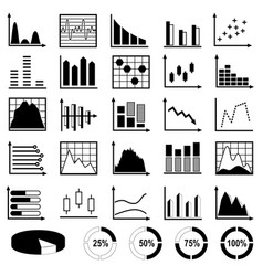 collection diagrams and charts vector image
