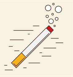 Colored flat design cigarette orange filter vector