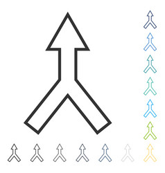Connect arrow up icon vector