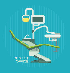 Dentist office promotional poster with special vector