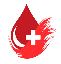 donor concept flat blood drop isolated vector image