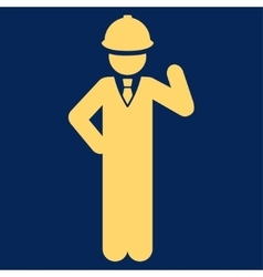 Engineer icon from Business Bicolor Set vector image