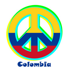 Flag of colombia as a sign of pacifism vector