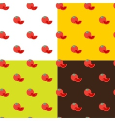 flat tomatos seamless pattern vector image