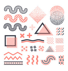 funky memphis graphic elements isolated on vector image