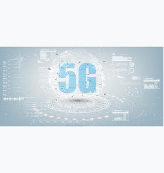 future technology display design 5g internet vector image