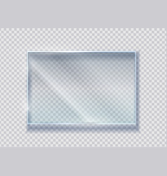 Glass crystal banner realistic clear vector