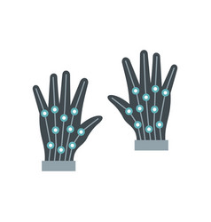 gloves virtual reality in flat style vector image