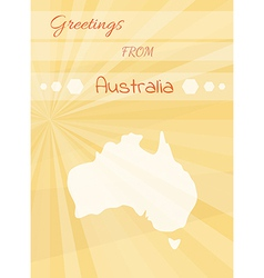 greetings from australia vector image