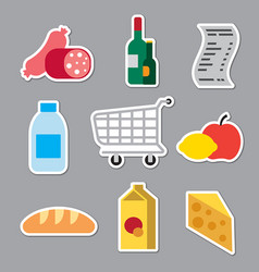 Grocery supermarket stickers vector