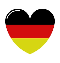 Heart with flag of germany vector