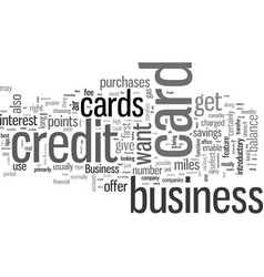 how to find a good business credit card vector image