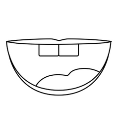 Isolated mouth cartoon design vector image