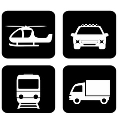 isolated transport icons vector image