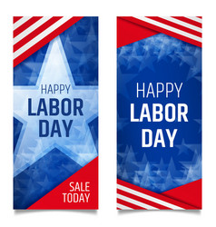 Labor day vertical banners vector
