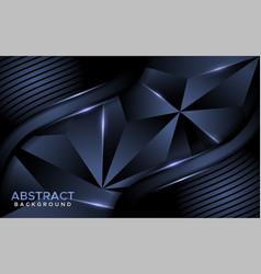 Luxurious abstract dark navy mosaic background vector