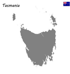 map of tasmania is a state of australia vector image